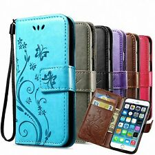 Pouch for Samsung Galaxy Cases Flowers Flip Cover Mobile Case