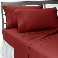 1000 THREAD COUNT,EGYPTIAN COTTON,4PC SHEET SET EXTRA DEEP POCKET,SOLID BURGUNDY