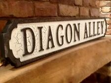 DIAGON ALLEY Wooden Street Sign. Ollivanders Box & Chest. Harry Potter inspired.