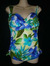 Amazing Miraclesuit Floral Tankini Bathing Suit Swimsuit Top Sz.. 10 Tall