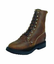 Justin Work Boots Mens Double Comfort Lace Up Western Aged Bark 760