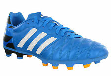 Adidas 11nova FG Football Leather Blue Moulded Studs Lace Up Boots UK6-12
