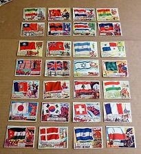 MULTI-LIST OF SINGLE A&BC 1960 FLAGS OF THE WORLD GUM CARDS #2 - #49  FREE P/P