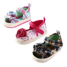 Summer Toddle Kids Baby Girl Floral Lattice Sandals Soft Crib Cotton Shoes 0-18M