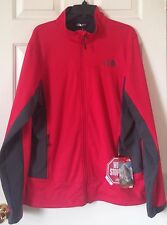 NWT Mens The North Face Cipher Hybrid Gore Windstopper Jacket TNF Red Asphalt L