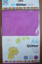 Glitter Card, A4, 6 sheets, 3 Colours, craft / scrapbooking / card making