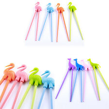 Children Kids Training Helper Learning Beginner Chopsticks Cute Animal Shape EW