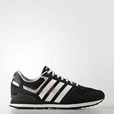 Shoes Adidas NEO 10K AW3854 Vintage Man Leather Black White sneakers
