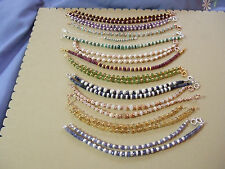 Birthstone Bracelets with Natural Faceted Gems, Sterling Silver Spacers & Clasps