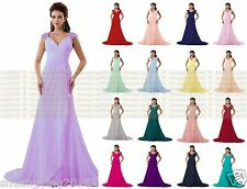 Long Chiffon Evening Formal Prom Party Dress Bridesmaid Dress Ball Gown Cocktail