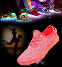 Fashion Unisex LED Light Casual Shoes Adult Boy Girl Kid Luminous Sneaker