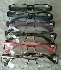 Bifocal Half Rimmed Reading Glasses Spring Hinged High Quality Fashion