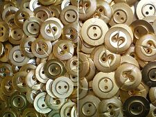 15mm 18mm Yellow Gold Metal 2 Hole Industrial Geometric Buttons (MB166-MB167)