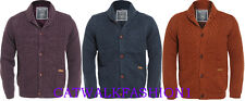 Mens  Quilt Lined Button Cardigan Padded Cable Knit Sweater Jumper k11 pullover