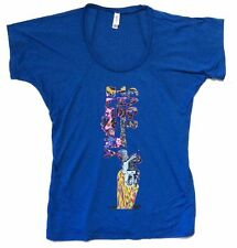 Cage The Elephant Down The Hole Girls Juniors Blue T Shirt New Official CTE