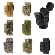 Military Tactical Hiking MOLLE Zipper Water Bottle Pouch Bag Hiking Bottle Bag