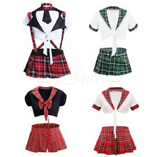 Sexy Women's School Girl Uniform Lingerie Cosplay Costume Fancy Dress Nightwear