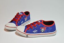 NEWCASTLE KNIGHTS NRL SENIOR FOOTY FEET KIDS CANVAS SHOES WITH LACES SZ 1-5
