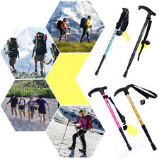 New AntiShock Durable Adjustable Hiking Trekking Walking Pole Cane Stick Crutch