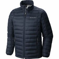 COLUMBIA MENS M VOODOO FALLS 590 TURBODOWN DOWN OMNI HEAT JACKET WARM NAVY BLUE