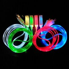 LED Visible Light Micro USB Charge Data Sync Cable for Universal Android samsung