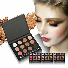 Professional 12 Color Eyeshadow Palette Makeup Tools With Brush