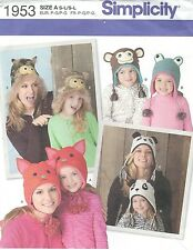 Simplicity 1953 Girls' and Misses' Hats in Three Sizes   Sewing Pattern