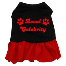 Mirage Pet Local Celebrity Screen Print Dog Dress Black with Red