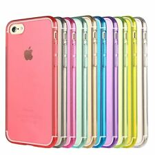 Colorful Soft TPU Transparent Phone Back Cover Case For Apple iPhone 7 Plus skin