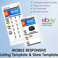 Ebay Shop Template Listing Design Store Auction Professional Package Dynamic