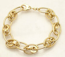 Technibond Multi Circle and Oval Link Bracelet 14K Yellow Gold Clad Silver 925