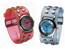 INFINITY:WOMENS' SILICONE RUBBER STUDS BAND PINK/LITEBLUE ANALOG QUARTZ WATCH