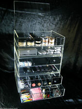 Large Acrylic Makeup Organizer Drawers Stackable Cosmetic Storage Cube ||