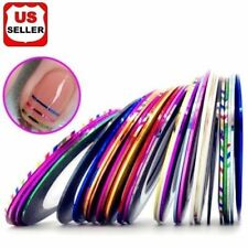 18 Color/Rolls Nail Striping Tape Line Tips Sticker Nail Art Decoration Manicure