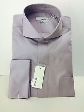 Men's Lavender Dress Shirt with Cutaway Collar French Cuffs Modena Sizes 15.5-20