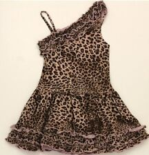 NWT Dolls and Divas Couture Leopard Print Leni dress girls 2 3 4 5 6 Made in USA