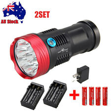 SKYRAY 27000LM 9x XM-L T6 LED Flashlight Torch Hunting Rechargeable 4*18650 Lamp