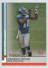 2009 Topps Finest Refractor Pigskin #65 Hakeem Nicks New York Giants Rookie Card