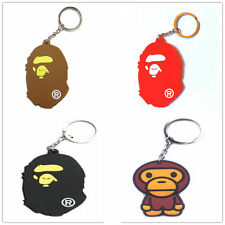 A Bathing Ape Bape Classic baby Ape Head More Color Keychain Key Ring Gift