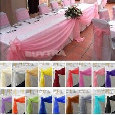 Top Table Swags Sheer Organza Fabric DIY Wedding Party Bow Decorations hc