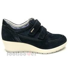 Shoes Igi&Co Sneaker Wedge 77595 00 Woman Suede Canvas Sport Blue Made in Italy