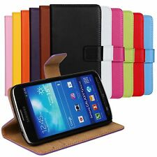 For All Samsung Phone Genuine Leather Flip Case Stand Wallet Cover