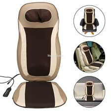 Electric Massager Car Home Heating Seat Cover Chair Back Shoulder Neck Massage