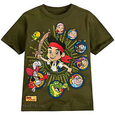 Disney Store JAKE AND THE NEVERLAND PIRATES PIRATE GREEN BOYS TEE T SHIRT 2/3