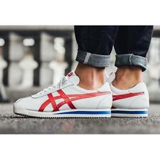 Shoes Onitsuka Tiger Corsair D713L 0123 man White True Red Leather