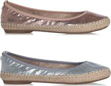 Butterfly Twist GIGI Ladies Womens Woven Memory Foam Ballerina Flat Pumps Flats