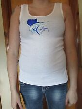Women's Guy Harvey Sailfish Tank Top - White - Medium -100% Cotton-New    (6 T)