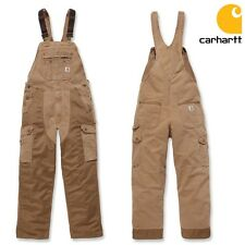 Carhartt Men's Dungarees Weathered Bib Overalls Workpants Trousers HIGH-QUALITY
