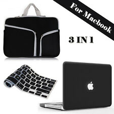 """Rubberized Hard Case Shell+Sleeve Carry Bag Macbook Air/Pro 11/13 Retina 12/15"""""""