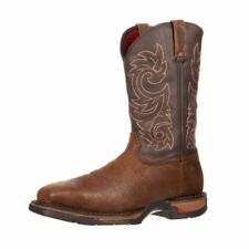 "Rocky Western Boots Mens 12"" Long Range ST WP Pull On Coffee FQ0006654"